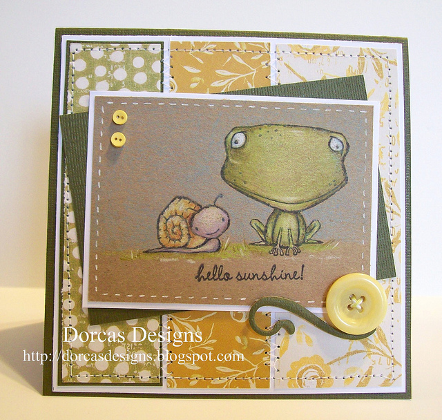 Dorcas Perkins - Freckles and Tucker Hello Sunshine card