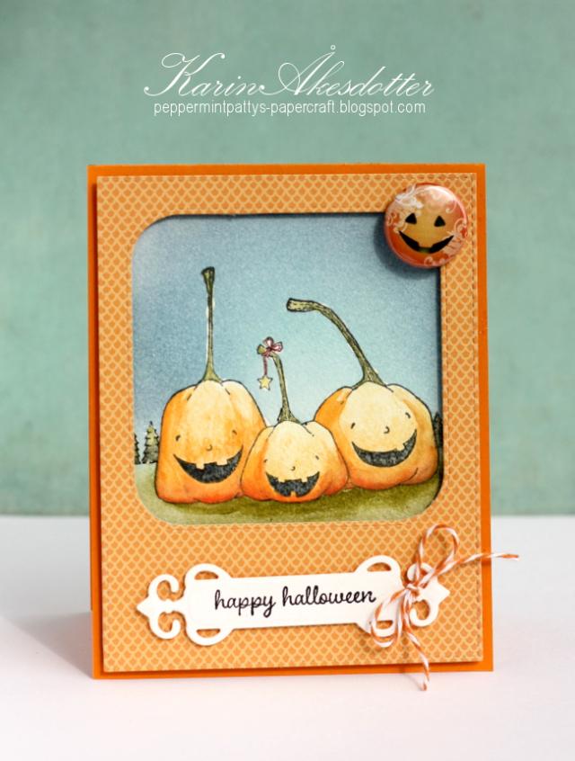 Karin Akesdotter - Happy Pumpkins Happy Halloween Card