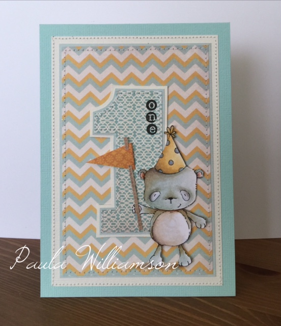 Paula Williamson - Happy 1st Birthday Card