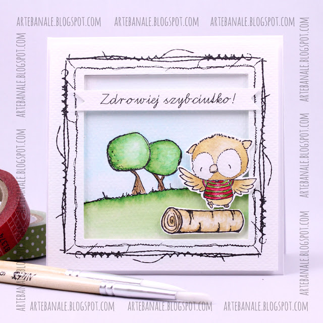 Agnieszka Danek-Wisniak - Ruby and Log Get Well Soon Card
