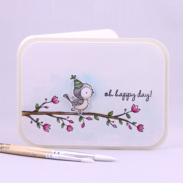 Agnieszka Danek-Wisniak - Sunny and Blossoming Perch Oh Happy Day Card