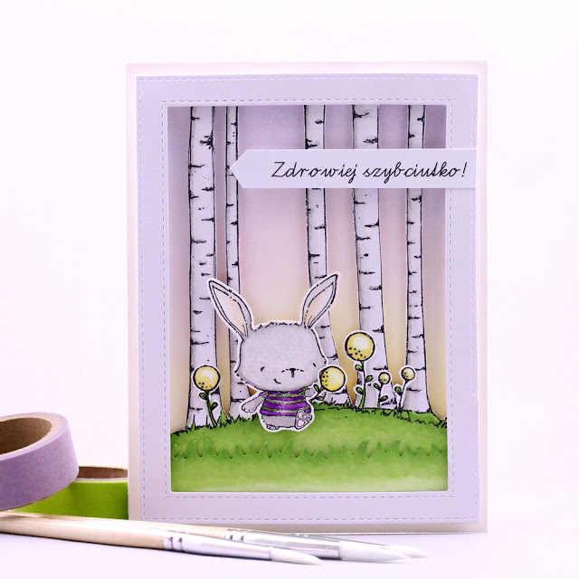 Agnieszka Danek-Wisniak - Willa and Birch Background Get Well Card