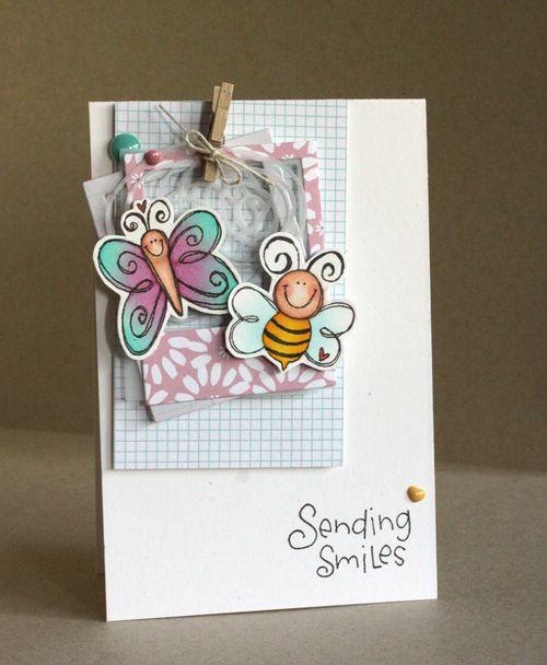 Alice Wertz - Love Bugs Sending Smiles Card