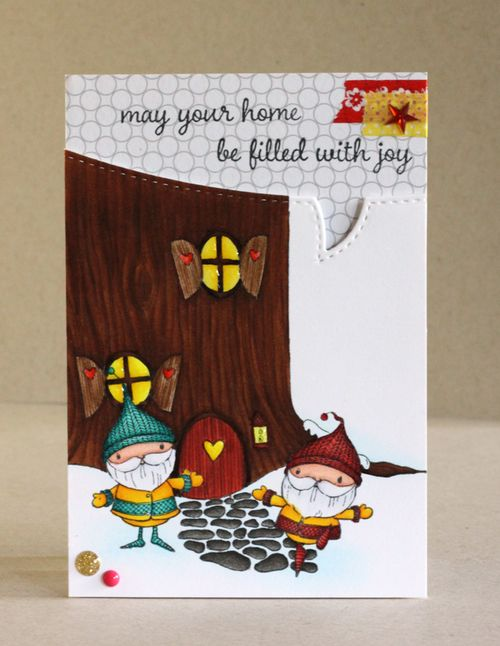 Alice Wertz - Tree House and Gnome Card