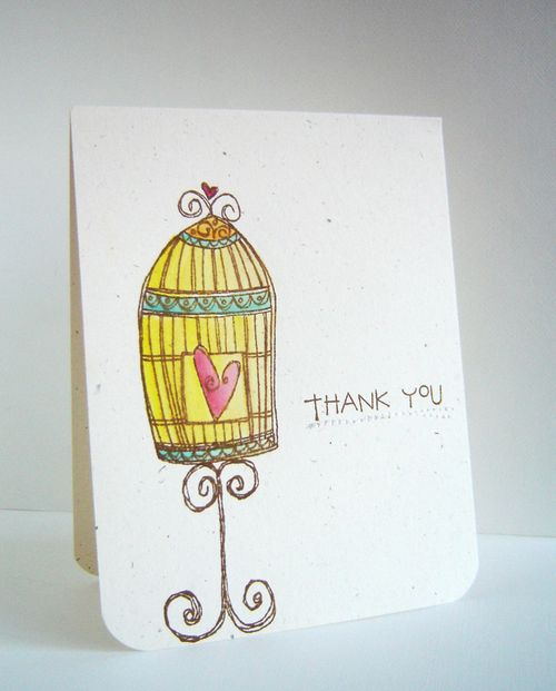 Alice Wertz - Bird Cage Thank You Card