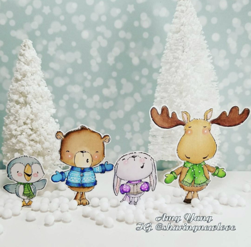 Amy Yang - Mistletoe Noel Snowball and Spruce