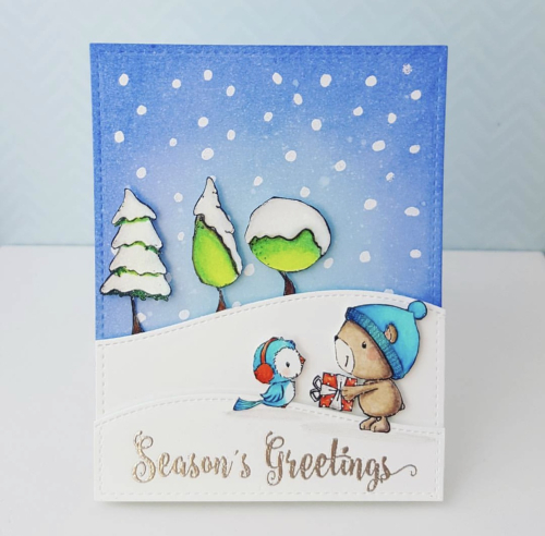 Amy Yang - Oakley Silver Seasons Greetings Card