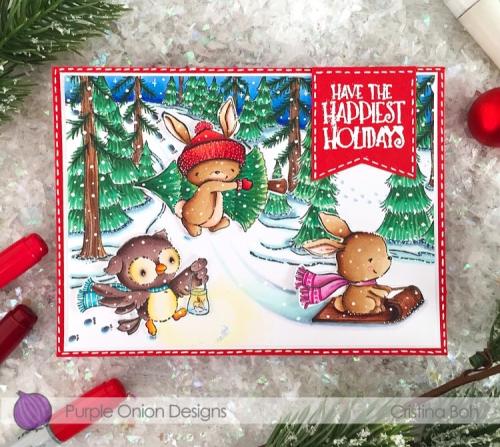 Cristina Boh - Winter Trail Happiest Holidays Card