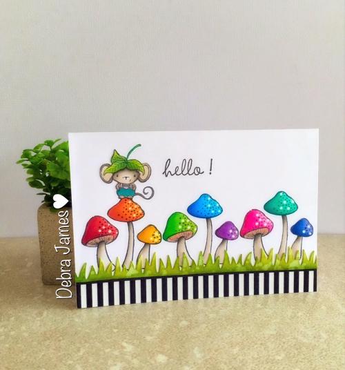 Debra James - Elliot and Mushrooms Card