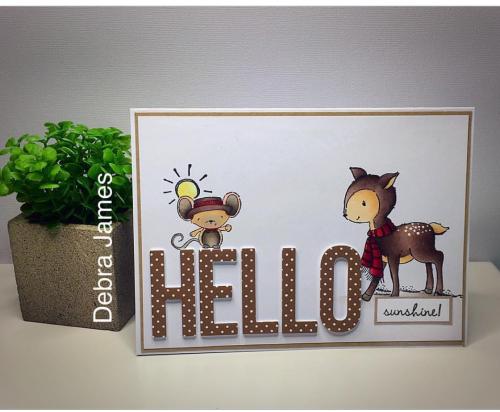 Debra James - Oliver and Meadow Hello Card