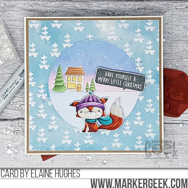 Elaine Hughes-cedar-christmas-card