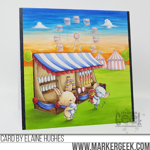 Elaine Hughes - Game Booth Fairgrounds Card