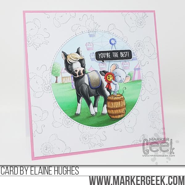 Elaine Hughes - Misty and Dolly Fairgrounds Card