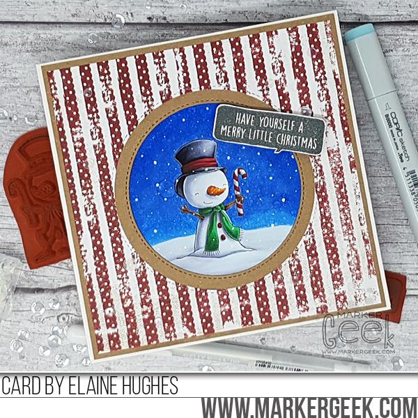 Elaine Hughes-snowman-christmas-card