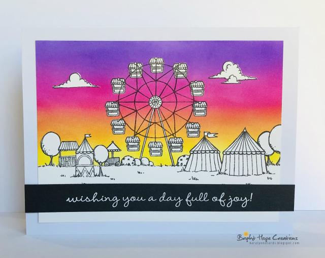Kara Pogreba - Fairgounds card sunset