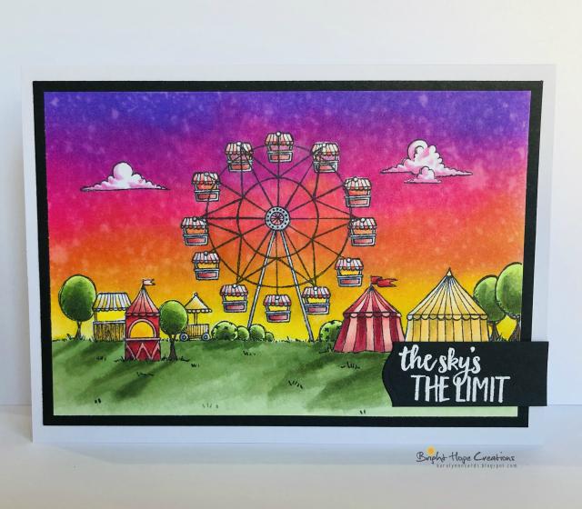 Kara Pogreba - Fairgrounds card Sunset with color