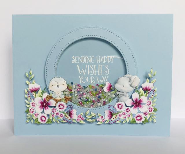 Kara Pogreba - SEPT Grace and Dotty Floral Card