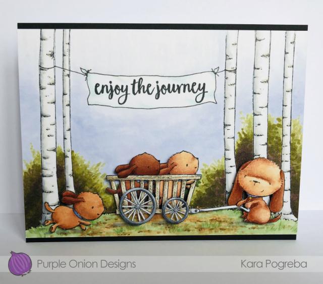 Kara Pogreba - Wags and Wood Slat Cart Card