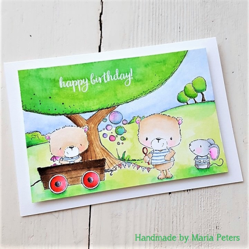 Maria Peters - Perfect Spot Happy Birthday Card