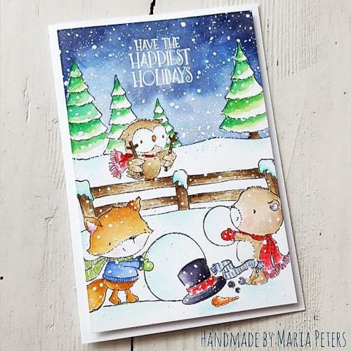Maria Peters - Rupert Wilson Sklyar Happy Holidays Card