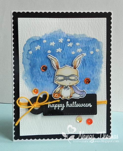 Nancy Thomas POD Masked Bunny Starry Night