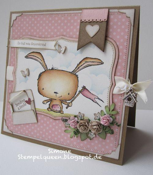 Simone Schwagler - Send a Smile Poppy Card - side