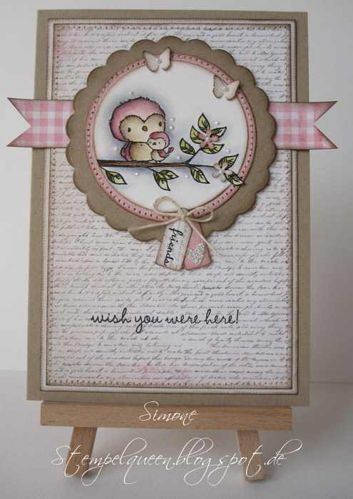 Simone Schwagler - Star & Sky Wish You Were Here Card