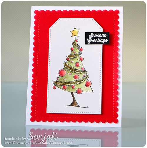 Sonja Kerkhoffs - Christmas Tree Card
