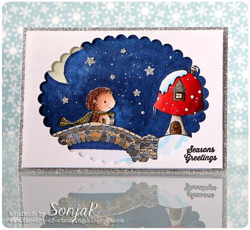 Sonja Kerkhoffs - Forrest, Bridge & Toadstool House Card