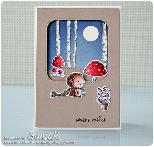 Sonja Kerkhoffs - Forrest and Toadstool Warm Wishes Card