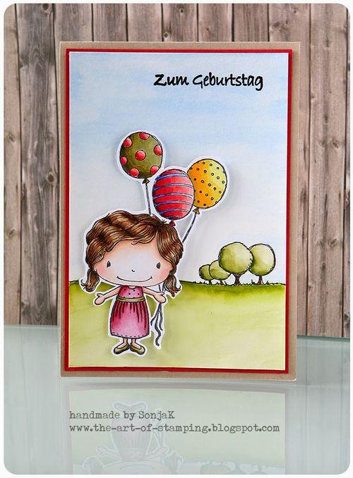 Sonja Kerkhoffs - Summer & Balloons Card