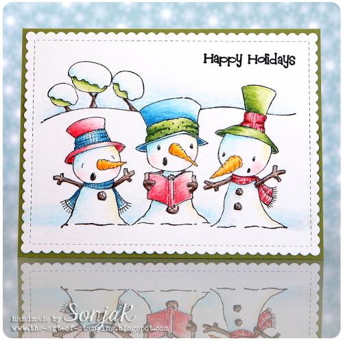Sonja Kerkhoffs - Snowy Trio Card