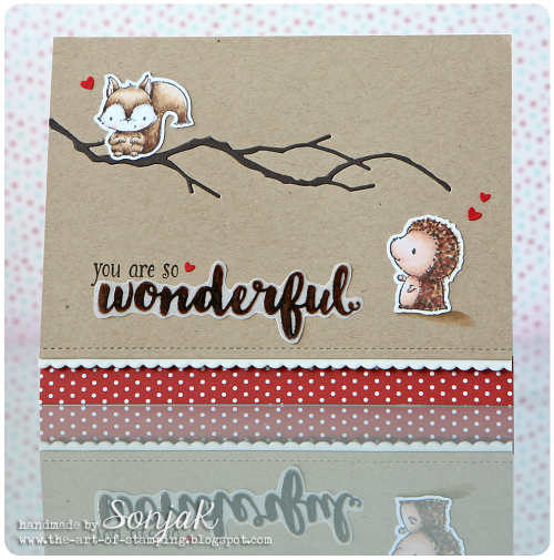 Sonja Kerkhoffs - You Are So Wonderful Chip and Milly Card
