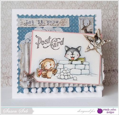 Susen Srb - Skylar, Blizzard & Snowfort Card