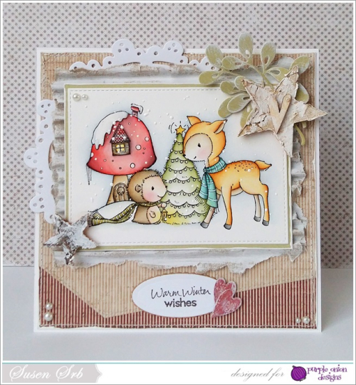 Susen Srb - Forrest Meadow and Toadstool House Card