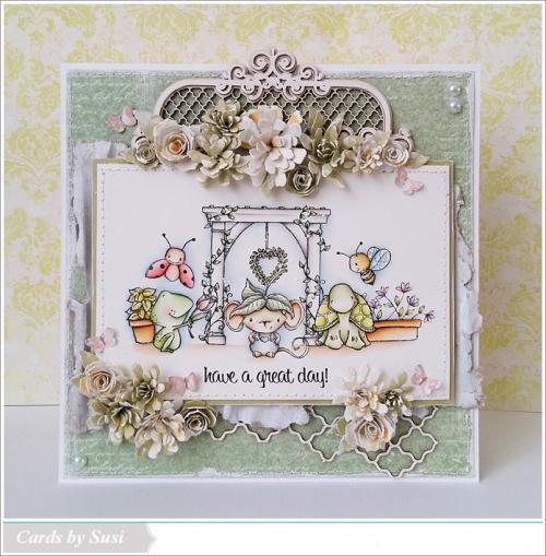 Susen Srb - Garden Blooms Arbor Card
