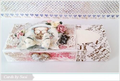 Susen Srb - Sweetheart Tissue Box - open