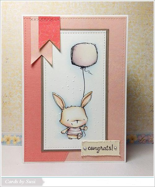 Susen Srb - Willa Balloon Congrats Card