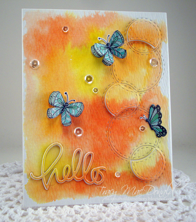 Tracy MacDonald - Flit and Flutter Hello Card