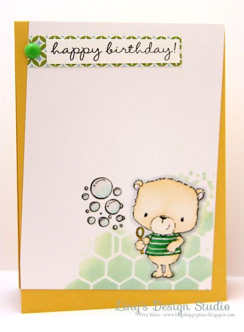 Vera Yates - Happy Birthday Jackson and Bubbles Card